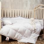 детский комплект (до 3-х лет) подушка +одеяло 100% белый гусный пух. Baby Snow Grass, German Grass (Герман Грасс), Австрия