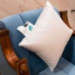 «Белый Гусенок». Детская пуховая подушка. белый гусиный пух, мелкое перо. ТМ «Серафимовская Пушинка», Россия