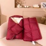 Серый гусенок. Пуховое одеяло-конверт для новорожденного. Элитный серый гусиный пух категории Премиум. Серафимовская Пушинка.
