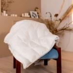 Глория. Пуховое кассетное одеяло. Белый гусиный пух, перо. Производство «Серафимовская Пушинка», Россия