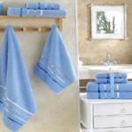 Комплект махровых полотенец «KARNA» BALE  (Голубой) 50×80-70х140 см. (4 шт.) Состав 100% хлопок. Производство ТМ «Karna» (Карна), Турция