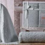 Комплект махровых полотенец «KARNA» ESRA (Светло-Зеленый) 50×90-70х140 см. Состав 100% хлопок. Производство ТМ «Karna» (Карна), Турция