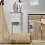 Комплект махровых полотенец «KARNA» VELSEN (Бежевый) 50×90-70х140 см. Состав 100% хлопок. Производство ТМ «Karna» (Карна), Турция