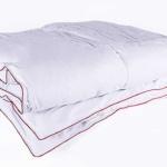 Ружичка. Теплое кассетное пуховое одеяло. Наполнитель 70% бело-серый гусиный пух, 30% гусиное перышко. Ткань 100% хлопок-твил. Производитель NATURE'S (Натурес), Россия