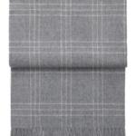 Шерстяной плед с кистями «6101 SUPERIOR light grey /white» 130х200см. Плед 100% шерсть беби альпака. Производитель: ТМ «Elvang», Дания