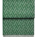 Шерстяной плед скистями «6140 AMAZING emerald/lake» 130х200см. Плед 100% шерсть беби альпака. Производитель: ТМ «Elvang», Дания