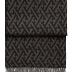 Шерстяной плед скистями «6142 AMAZING throw black/grey» 130х200см. Плед 100% шерсть беби альпака. Производитель: ТМ «Elvang», Дания