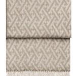 Шерстяной плед с кистями «6145 AMAZING beige/white» 130х200см. Плед 100% шерсть беби альпака. Производитель: ТМ «Elvang», Дания