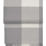 Шерстяной плед с кистями «6160 WHISPER flint grey/cream» 130х200см. Плед 100% шерсть беби альпака. Производитель: ТМ «Elvang», Дания