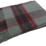 Мягкий хлопковый плед с кистями «BABILONA GREYRED». Состав 70% хлопок, 30% акрил. Производство ТМ «Italian Woolen Treasures». Италия