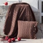 плед вязаный «Imperio 233″ (коричневая замша) 150х200см. Состав: 100% хлопок. Производство: «Luxberry» («Люксберри»), Португалия