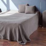 VINCENT (серыйсепия). Покрывало 100% хлопок. Производство Luxberry (Люксберри), Португалия