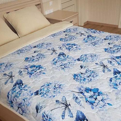 Одеяло Меринос ЛоконХлопок Гортензия. Шерстяное тканое одеяло. 100% открытая шерсть мериноса. ТМ Magicwool (Монарх), Россия