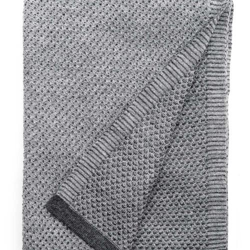 6201 Raindrops Grey. Плед 100% шерсть беби альпака. ТМ «Elvang», Дания