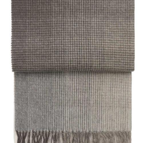7503 HORIZON brown. Плед шерсть альпака, овечья шерсть. ТМ Elvang, Дания