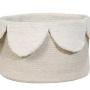 Корзина Лепестки айвори-1 Хлопковая декоративная корзина 100 хлопок. Lorena Canals , Испания