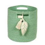 Корзина с листом зеленая-1 Хлопковая декоративная корзина 100 хлопок. Lorena Canals , Испания