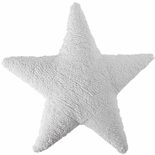 Подушка детская декоративная Star белая. 100 хлопок. Lorena Canals, Испания