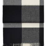 6162 WHISPER blackcream плед 100 шерсть беби альпака. «Elvang», Дания