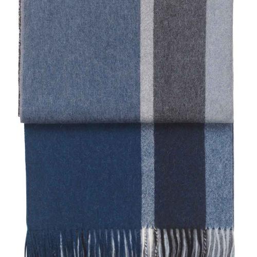 7061 MANHATTAN dark blueasphalt. Плед шерсть50% альпака, 40% овечья шерсть. ТМ Elvang, Дания