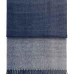 7509 HORIZON dark blue. Плед шерсть альпака, овечья шерсть. ТМ Elvang, Дания