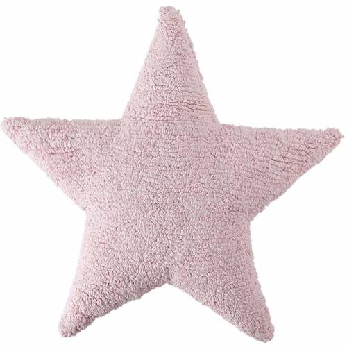 Подушка детская декоративная Star розовая. 100 хлопок. Lorena Canals, Испания