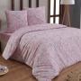ROSINA-розовый Постельное белье Бязь, Хлопок. Комплект постельного белья сатин -100 хлопок. Постельное белье Karna (Карна), Турция