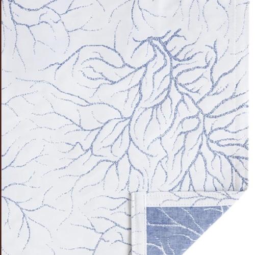 CORAL (белыйголубой). Покрывало 100% хлопок. Производство Luxberry (Люксберри), Португалия