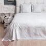 CORAL (белый серый). Покрывало 100% хлопок.  Производство Luxberry (Люксберри), Португалия