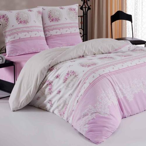 ALVIA СИРЕНЕВЫЙ Постельное белье Бязь, Хлопок. Комплект постельного белья сатин -100 хлопок. Постельное белье Karna (Карна), Турция