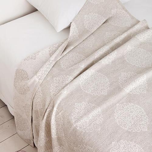 LEILA (льняной). Покрывало 95% хлопок, 5% лен. Производство Luxberry (Люксберри), Португалия