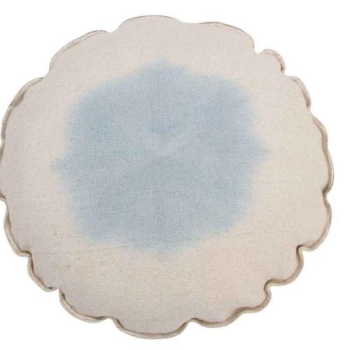 Tie-Dye нежно-голубая. Подушка детская декоративная. 100 хлопок. Lorena Canals, Испания