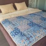 Одеяло Верблюд Капучино Гжель. Шерстяное тканое одеяло. 30% верблюжий пух, 70% открытая шерсть мериноса. ТМ Magicwool (Монарх), Россия