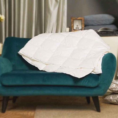 Trois Couronnes Princess Medium. Всесезонное пуховое кассетное одеяло. 90 белый пух, 10 перо. Trois Couronnes, Швейцария