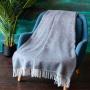 JANINA 1-5 Шерстяной плед с кистями. Плед из 100% шерсть новозеландских ягнят. «AVINAMAS», Литва