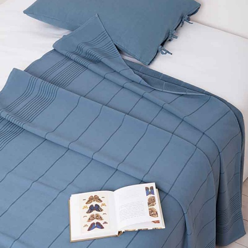 Simple (индиго) Простынь махровая. Состав 100% хлопок. Ткань махра. Luxberry (Люксберри), Португалия