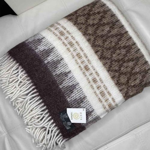 Версаль Шерстяной плед с кистями шерсть альпака, новозеландская овечья шерсть,. Производитель Klippan Saule, Латвия