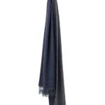 4117-His--Her-scarf-Navy-grey. Шарф 100% шерсть беби альпака. Elvang (Элванг), Дания
