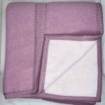 Одеяло «Бело-Розовый». Теплое тканое одеяло. 100 открытая новозеландская овечья шерсть. Производство KLIPPAN SAULE, Латвия