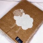 Овечки Шерстяной плед с кистями. 100 новозеландская овечья шерсть. Производитель Klippan Saule, Латвия