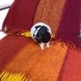 Юрмала Шерстяной плед с кистями. 100 новозеландская овечья шерсть. Производитель Klippan Saule, Латвия