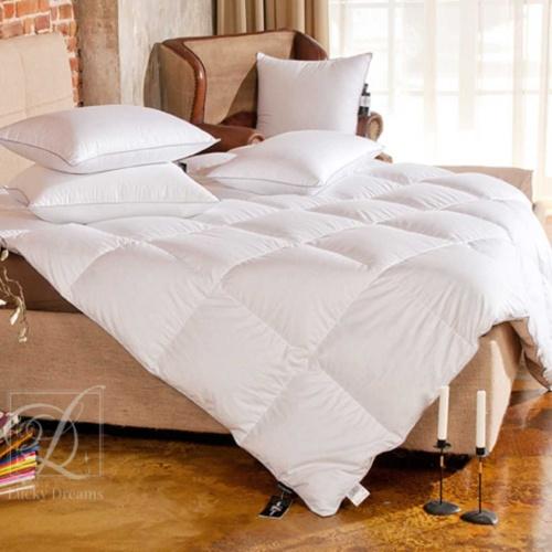 «Bliss» . Теплое пуховое кассетное одеяло. 100% серый пух сибирского гуся (экстра). Lucky Dreams, Россия