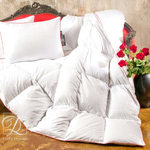 «Desire». пуховое кассетное одеяло. 100% серый пух сибирского гуся (экстра). Lucky Dreams, Россия