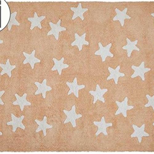 Детский стираемый ковер «Звезды» нюдовый. Состав 100% хлопок. Производитель ТМ «Lorena Canals» , Испания