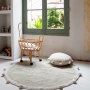 Ковер с помпонами оливковый Детский стираемый ковер. Состав 100% хлопок. Производитель ТМ «Lorena Canals», Испания
