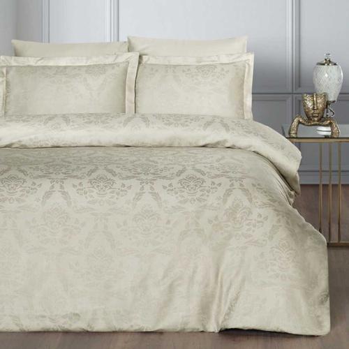 Постельное белье бамбук KARNA BENOIT (Бежевый). Комплект постельного белья бамбук-хлопок. Состав 30% бамбук, 70% хлопок. Ткань Бамбук-Жаккард. Постельное белье Karna (Карна), Турция