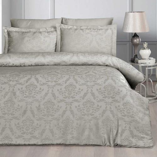 Постельное белье бамбук KARNA BENOIT (Визон). Комплект постельного белья бамбук-хлопок. Состав 30% бамбук, 70% хлопок. Ткань Бамбук-Жаккард. Постельное белье Karna (Карна), Турция