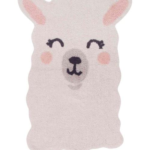 Счастливая Лама. Детский стираемый ковер. Состав 100% хлопок. Производитель Lorena Canals, Испания