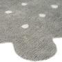 Детский стираемый ковер «Печенье Biscuit» серый. Состав 100% хлопок. Производитель ТМ «Lorena Canals» , Испания