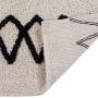 Детский стираемый ковер «Атлас» черный. Состав 100% хлопок. Производитель ТМ «Lorena Canals» , Испания